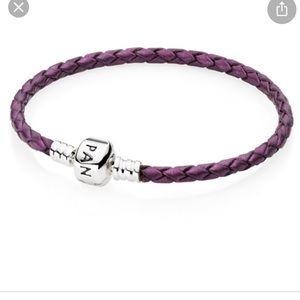 Shimmery purple bracelet